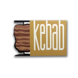 Kebab - Wood effect sign