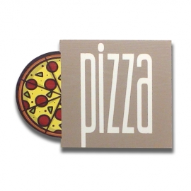 Pizza - Wood effect sign