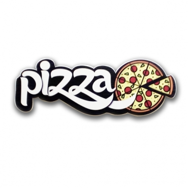 Pizza - Wood effect 3D letters sign