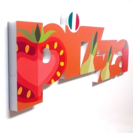 Pizza - Wall and counter sign