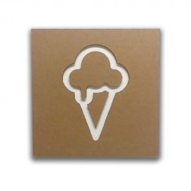 Ice cream - Cardboard sign