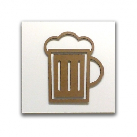 Beer - Cardboard sign for kitchen or shop sign | Sell on Tropparoba